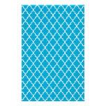 Enrejado marroquí hawaiano del azul de océano y papelería personalizada