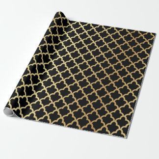 Enrejado marroquí moderno elegante de la hoja de papel de regalo