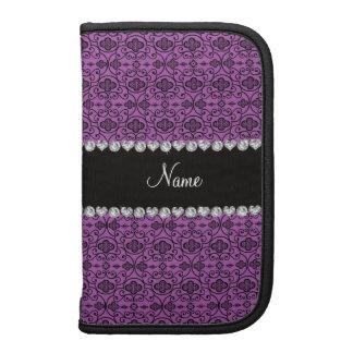 Enrejado marroquí púrpura personalizado de la lila planificador