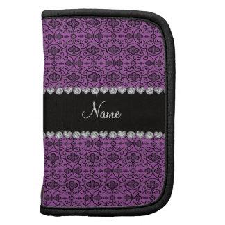 Enrejado marroquí púrpura personalizado de la lila organizadores