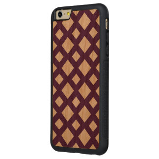 Enrejado púrpura en blanco funda de cerezo bumper carved® para iPhone 6 plus