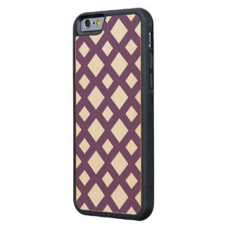 Enrejado púrpura en blanco funda de iPhone 6 bumper arce
