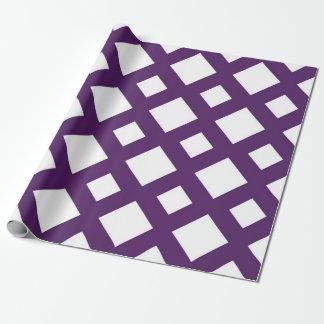 Enrejado púrpura en blanco