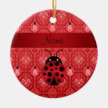 Enrejado rojo personalizado del muñeco de nieve de adorno de navidad