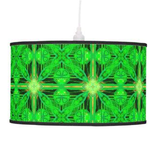 Enrejado verde que brilla intensamente de la cal lámpara de techo