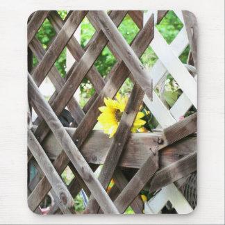 Enrejado y flor viejos por el djoneill mousepad