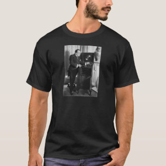 Enrico Caruso with a Victrola Brand Phonograph T-Shirt