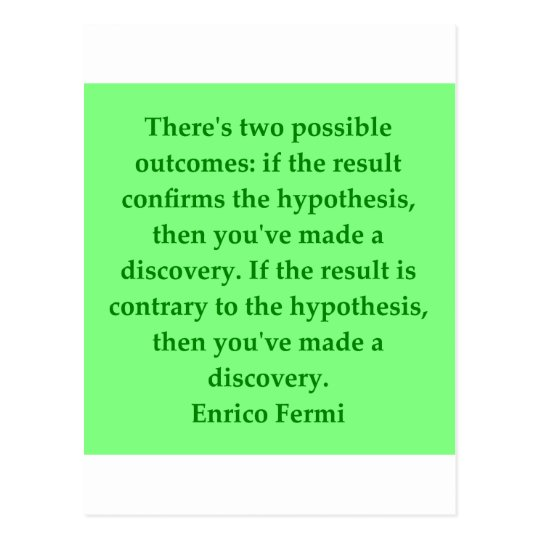 Enrico Fermi quote Postcard
