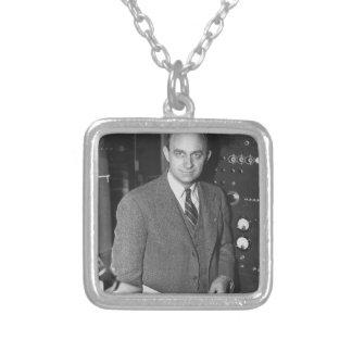 enrico fermi square pendant necklace