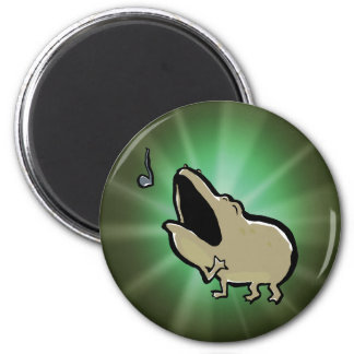 enrico, the singing frog 2 inch round magnet