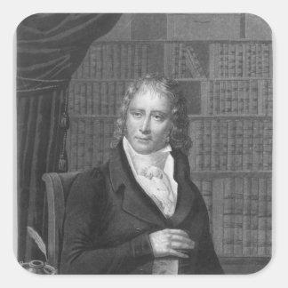 Enrique Benjamin Constant de Rebecque Pegatina Cuadrada