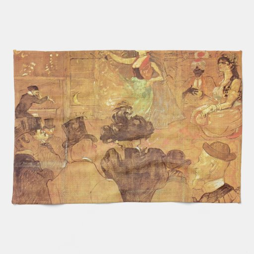 Enrique - cabina de Lautrec- del La Goulue Toalla De Cocina