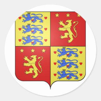 Enrique de Laborde de Montpezat, Dinamarca Pegatina Redonda
