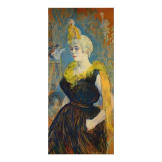 Enrique de Toulouse-Lautrec el payaso Cha U Kao Tarjetas Publicitarias Personalizadas
