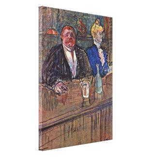 Enrique de Toulouse-Lautrec - la barra, kavarne Impresión En Lienzo