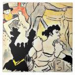 Enrique de Toulouse-Lautrec, la bola Azulejo Cuadrado Grande
