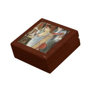 Enrique de Toulouse-Lautrec la mujer de Tatooed Caja De Recuerdo