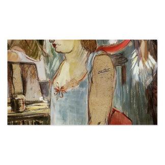 Enrique de Toulouse-Lautrec la mujer de Tatooed Tarjeta De Visita