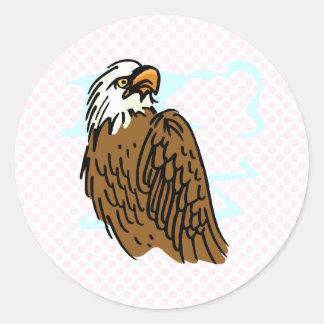 Enrique Eagle Classic Round Sticker