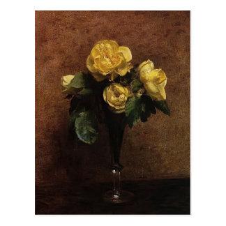 Enrique Fantin-Latour- florece los rosas Marechal  Tarjetas Postales