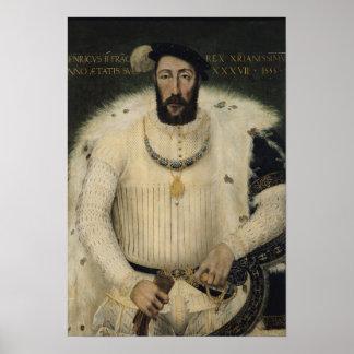 Enrique II, rey de Francia, 1555 Póster