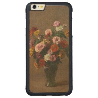 Enrique Latour - Zinnias Funda Para iPhone 6 Plus De Carved® De Nogal