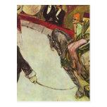 Enrique Lautrec- en el circo Fernando, el jinete Tarjeta Postal