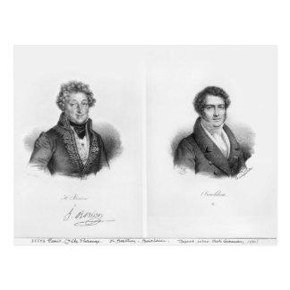 Enrique Montan Berton y Francois Adrien Postales