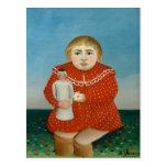 Enrique Rousseau- el chica con una muñeca Tarjetas Postales