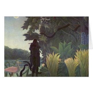 Enrique Rousseau- el encantador de serpiente Tarjeton