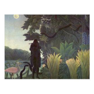 Enrique Rousseau- el encantador de serpiente Tarjeta Postal