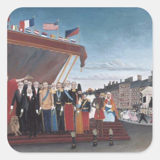 Enrique Rousseau-Salution a la república para la Pegatina Cuadrada