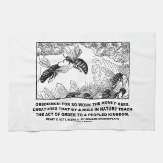 Enrique V Shakespeare de las abejas del trabajo de Toalla De Mano