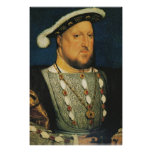 Enrique VIII de Inglaterra de Hans Holbein el más  Poster
