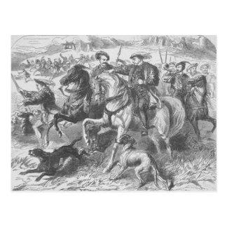 Enrique VIII en la caza real en el bosque de Eppin Postal