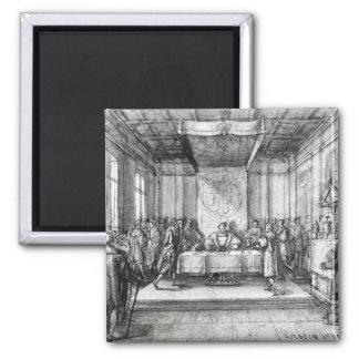 Enrique VIII en su cámara privada Imán Cuadrado