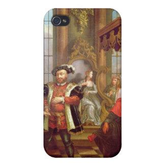 Enrique VIII que presenta a Ana Bolena en la corte iPhone 4 Cárcasa