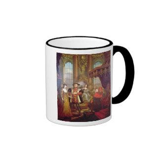 Enrique VIII que presenta a Ana Bolena en la corte Taza De Dos Colores