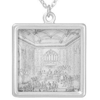 Enrique VIII que recibe Montmorency Colgante Cuadrado