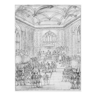 Enrique VIII que recibe Montmorency Tarjeta Postal