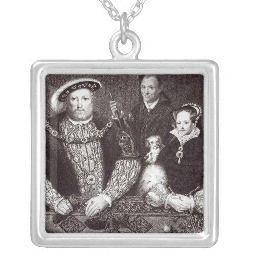 Enrique VIII, su hija Queen Mary Colgante Cuadrado