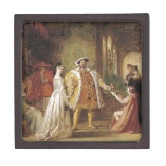 Enrique VIII y Ana Bolena Caja De Joyas De Calidad
