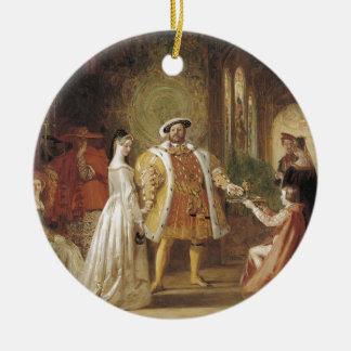 Enrique VIII y Ana Bolena Ornamento Para Arbol De Navidad