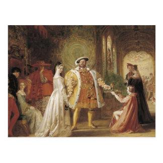 Enrique VIII y Ana Bolena Tarjetas Postales
