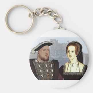 Enrique VIII y Ana Boleyn Llavero Redondo Tipo Pin