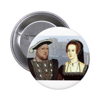 Enrique VIII y Ana Boleyn Pin Redondo De 2 Pulgadas