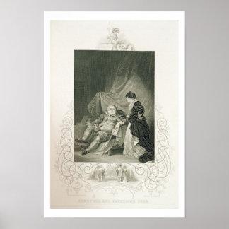 Enrique VIII y Catherine Parr, en el Enrique V del Posters