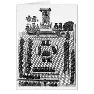 Enrique VIII y el parlamento en 1523 Tarjeta