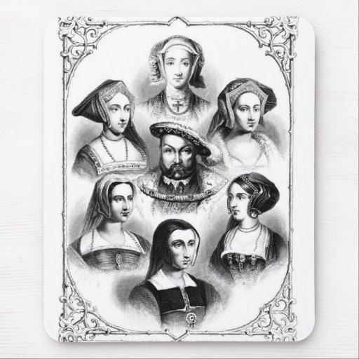 Enrique VIII y esposas Tapetes De Ratón