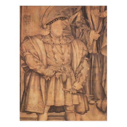 Enrique VIII y Henry VII de Hans Holbein- Postal